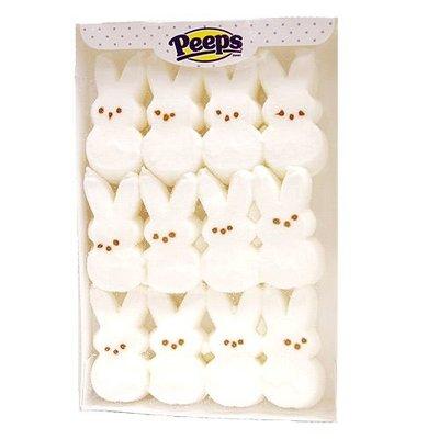 Peeps Marshmallow Bunnies Wit 12 stuks