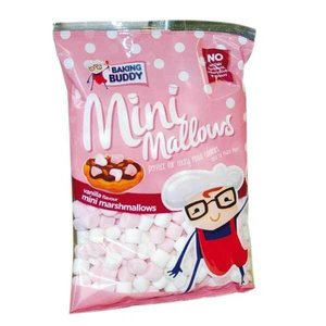 Baking Buddy Mini Marshmallows Pink and White 150 gram