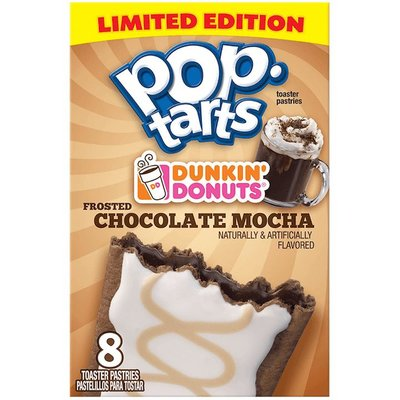 Kelloggs Pop Tarts Dunkin Donuts Chocolate Mocha Frosted Limited Edition