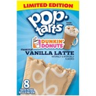 Kelloggs Pop Tarts Dunkin Donuts Vanilla Latte Frosted Limited Edition