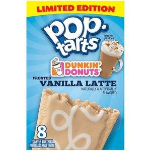 Kelloggs Pop Tarts Dunkin Donuts Vanilla Latte Frosted Limited Edition