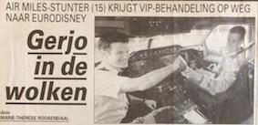 Gerjo Airmiles Actie 1995 in KLM toestel