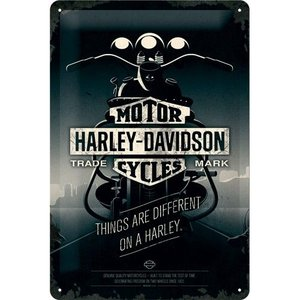 Nostalgic Art Tin Sign Harley Davidson Things Are Different 20x30 cm