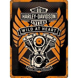 Nostalgic Art Tin Sign Harley Davidson Wild at Heart 30x40 cm