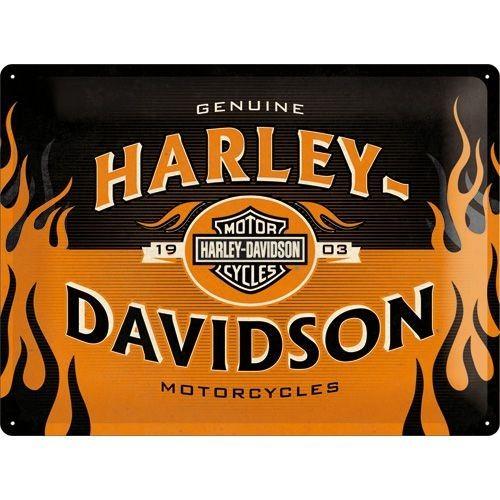 nostalgic art tin sign harley davidson 1903 logo 40x30 cm. Black Bedroom Furniture Sets. Home Design Ideas
