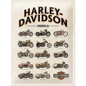 Nostalgic Art Tin Sign Harley Davidson Model Chart 30x40 cm