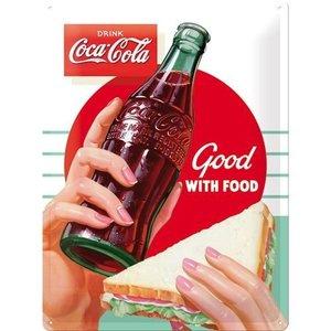 Nostalgic Art Tin Sign Coca-Cola Food 30x40 cm