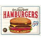 Nostalgic Art Tin Sign Hamburgers 40x30 cm