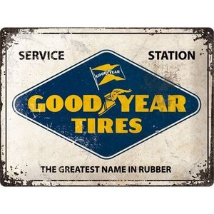 Nostalgic Art Tin Sign Goodyear Logo 40x30 cm