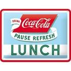 Nostalgic Art Tin Sign Coca-Cola Lunch 20x15 cm