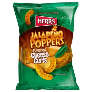 Herrs Jalapeno Poppers Cheese Curls 198 gram