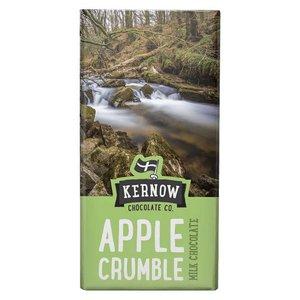 KORTERE THT: Kernow Apple Crumble Milk Chocolate Bar 100 gram
