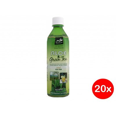 Tropical Aloe Vera Green Tea 500ml Doos (20x)