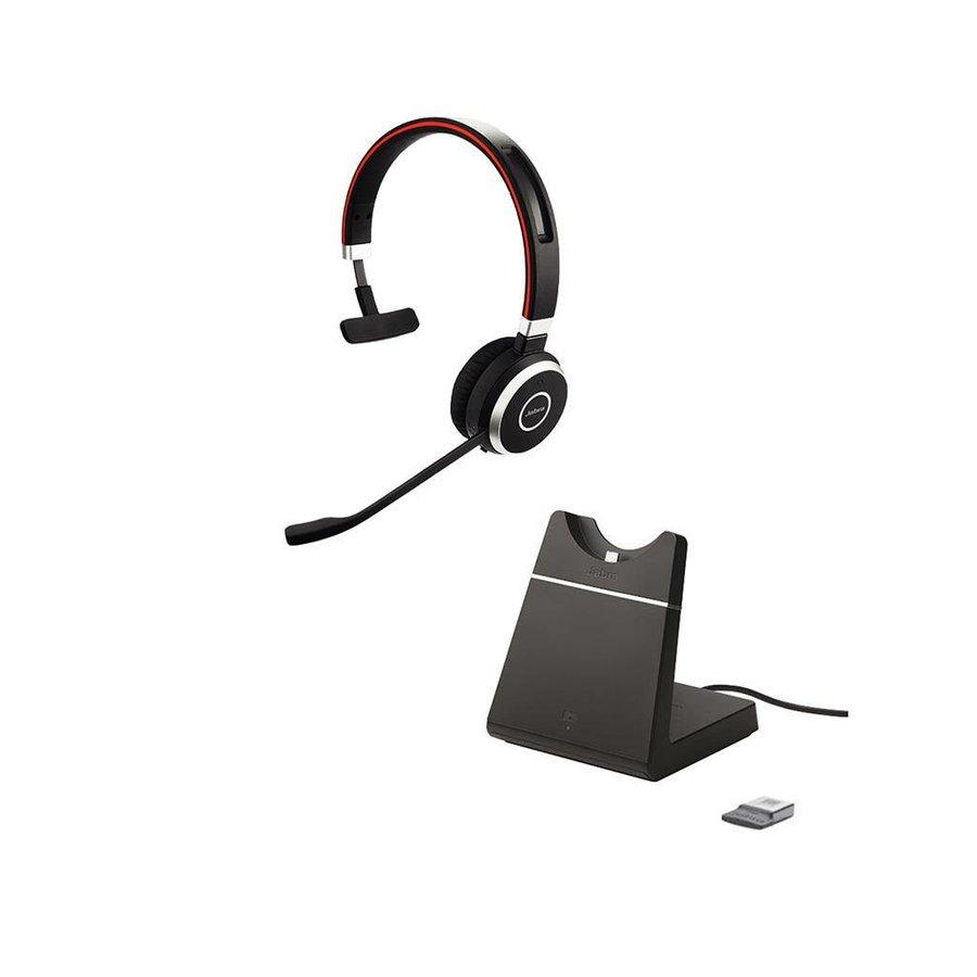 Evolve 65 UC Mono inc. charging stand