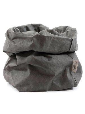 UASHMAMA® Sac en papier gris foncé