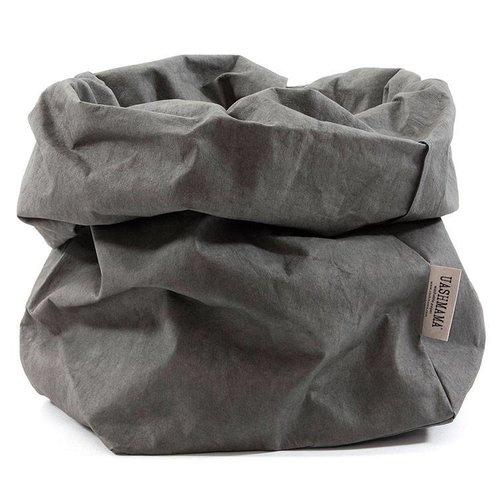 UASHMAMA® Paper Bag Donkergrijs