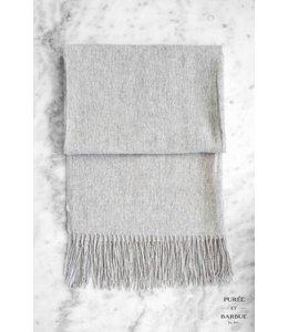 Shawl Valérie 100% Wool Light Grey