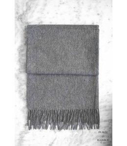 Shawl Valérie 100% Wool Dark Grey