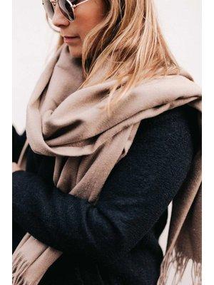 Pureé & Barbue Shawl Valérie 100% Wool Beige
