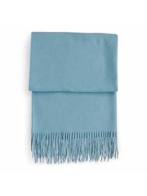 Pureé & Barbue Shawl Valérie 100% Wool Light Blue