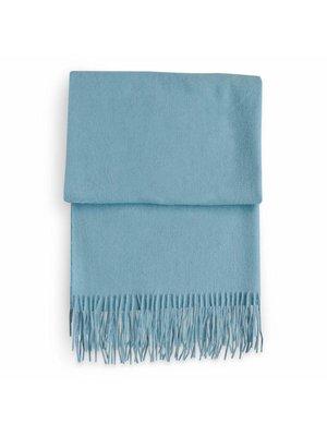 Shawl Valérie 100% Wol Licht Blauw