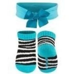 Soxo Baby sokjes met hoofdband Blauw (0 tot 1 jaar)