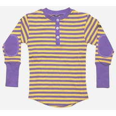 Moonkids Shirt Striped Henly Purple/Yellow