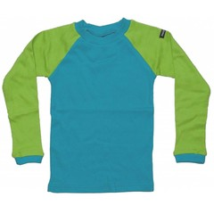 Moonkids Shirt Baseball Tee Petrol Blue/Apple Green