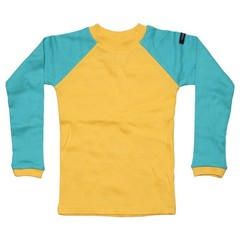 Moonkids Shirt Baseball Tee Yellow/Turquoise