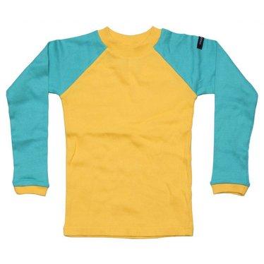 Moonkids Shirt Baseball Tee Yellow/Turquoise