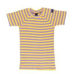 Moonkids Shirt korte mouw Striped tee Yellow/Purple