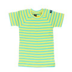Moonkids Shirt korte mouw Striped tee Yellow/Turquoise