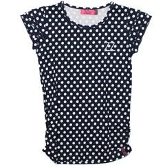 ZieZoo Meisjes shirt met korte mouwen Stip Navy