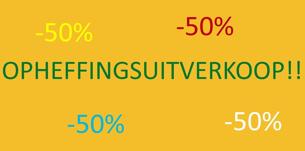 OPHEFFINGSUITVERKOOP!!