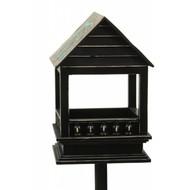 Vogelhuisje 'Claire' Zwart op Stok