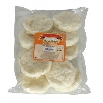 Crunchy Kauwchips rond Natural 15-20gr