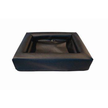 Leather bed zwart