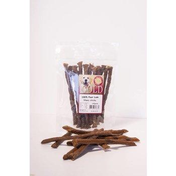 Vleessticks 100% vlees, 100 gram, 15-18 sticks