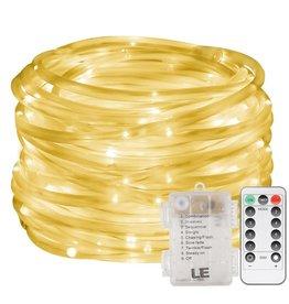 LED Lichterschlauch, 10M 120er LEDs, Warmweiß, 8 Modi mit Memory-Funktion für Innen/ Außen