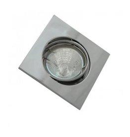 Einbaurahmen für LED MR16/GU10 Quadratisch Schwenkbar Chrom