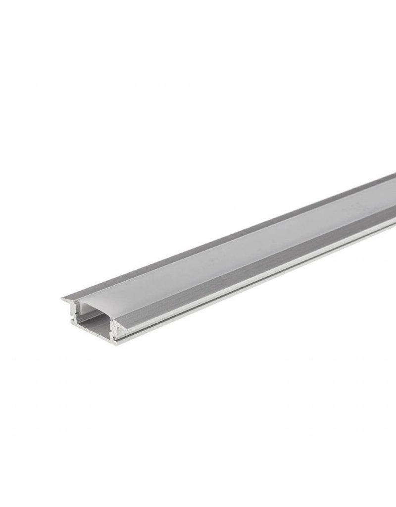 LED Aluminium Profil Einbau eloxiert 1m SET