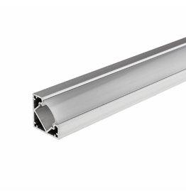 LED Aluminium Profil 45° eloxiert 1m SET