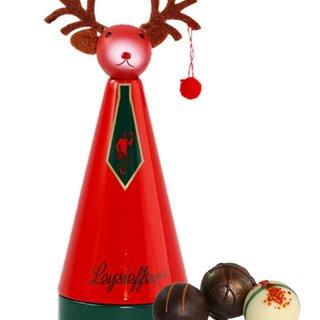 Leysieffer Weihnachtskegel mit Elchkopf, erlesene Sahnetrüffel-Pralinen