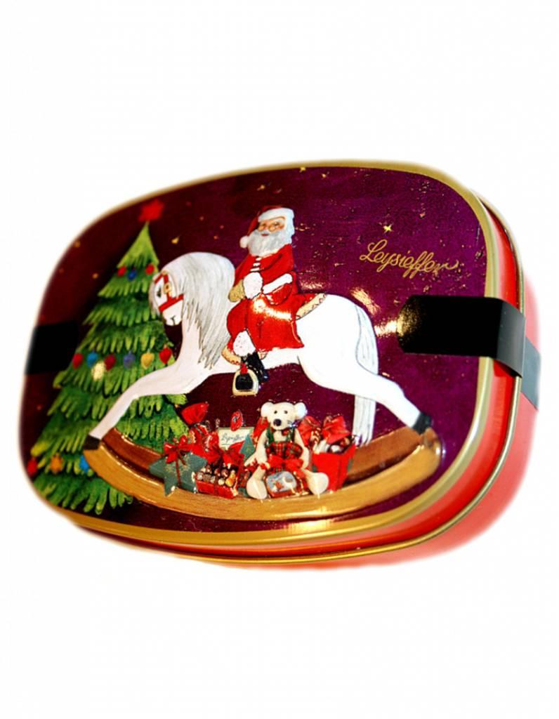 Weihnachts-Schaukelpferddose mit leckeren Schokoladen-Überraschungen