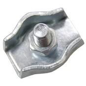 Staaldraadklem verzinkt 5mm simplex