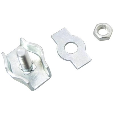 Stahldrahtklem verzinkt 5mm simplex