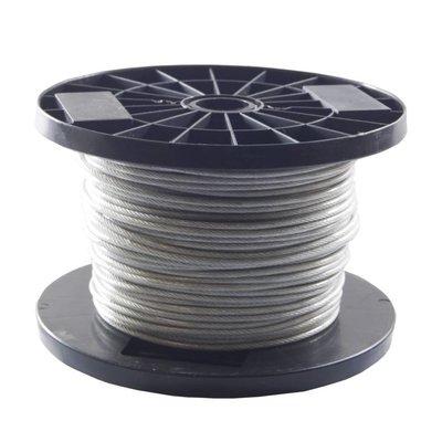 staalkabels 1.5/2.5 mm geplastificeerd 100 meter