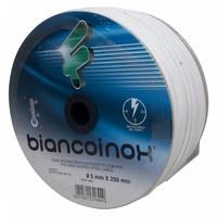 Filomat RVS Staaldraad 5 mm wit PVC omspoten 250 meter