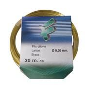 Filomat Messingdraht 100%, weich, formbar, 0.5mm x 30 meter
