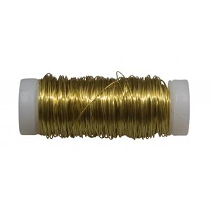 Filomat Messingdraht 100%, weich, formbar, 0.4mm 50 gram Rolle